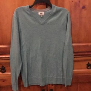 Men's old navy light green sweater - small